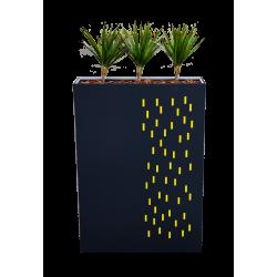 Jardinière haute avec découpes rectangulaires jaunes