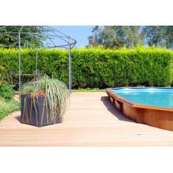 Cache-pot lignes jardin piscine