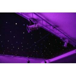 """Plafonnier """"Ciel étoilé"""" métallique avec ampoules leds vue de nuit"""
