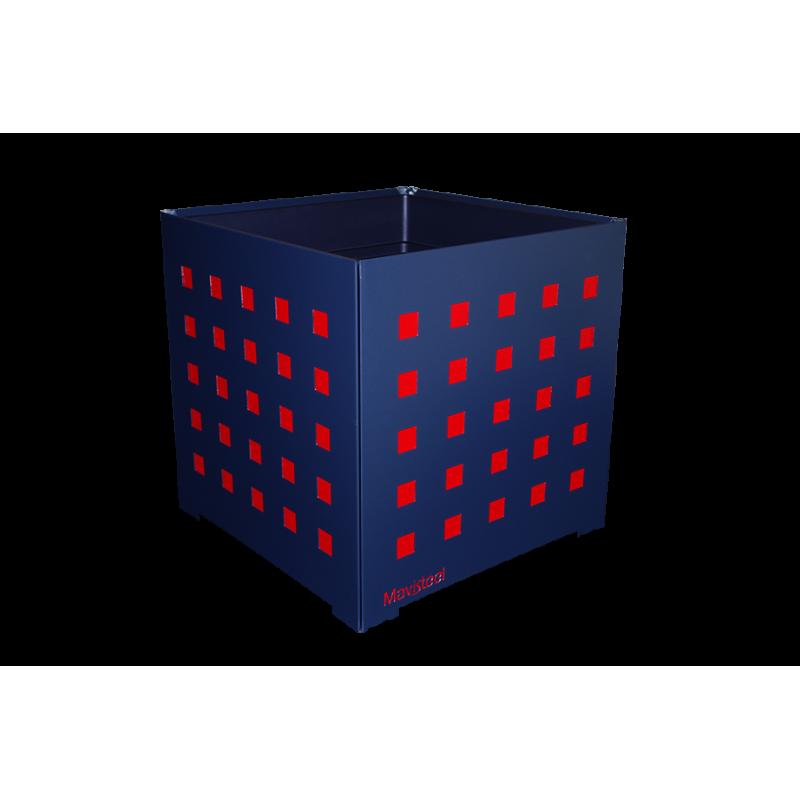 cache pot carr anthracite 40x40x40cm avec choix du motif et couleurs. Black Bedroom Furniture Sets. Home Design Ideas